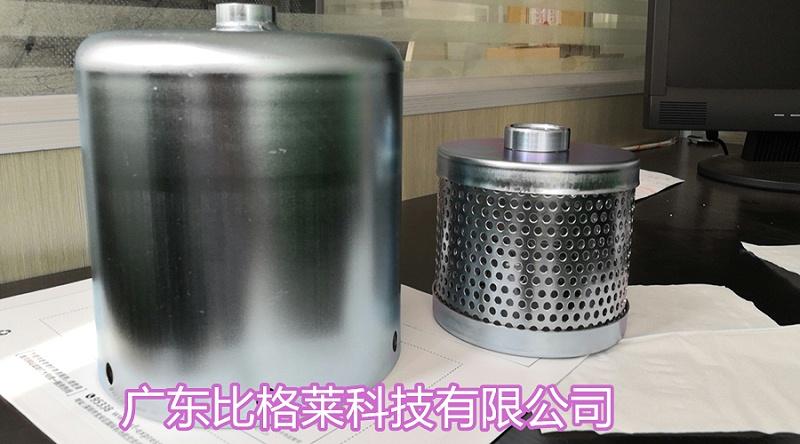 张先生使用比格莱镀锌三价铬蓝色钝化剂Zn-98钝化后的产品图