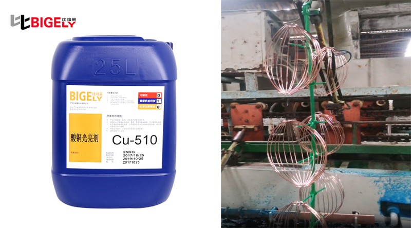 合线网工件使用比格莱酸铜光亮剂Cu-510生产效果图